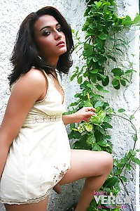 Keira Verga in a sun dress