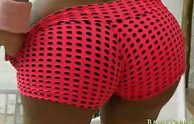 Massive boobs tranny Bruna Angel gets her ass banged
